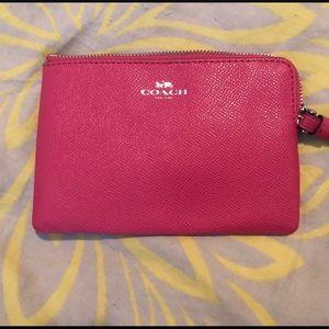 Coach Bags - NWOT Hot Pink Coach ID Wristlet